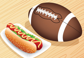 Hotdog for Tailgate - vector gratuit #391215