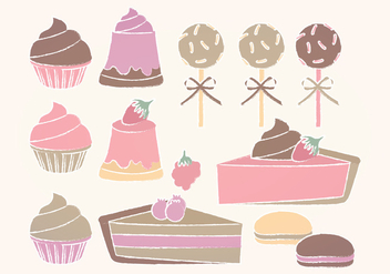Vector Sweets Collection - vector #391255 gratis