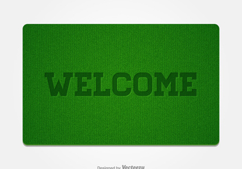 Free Welcome Doormat Vector - бесплатный vector #391315