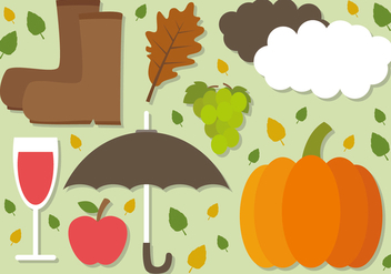 Free Flat Autumn Vector Elements - Free vector #391335