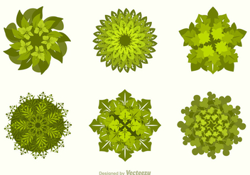 Free Vector Tree Tops - vector #391365 gratis