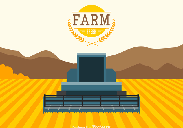 Free Agriculture Vector Landscape - Free vector #391395