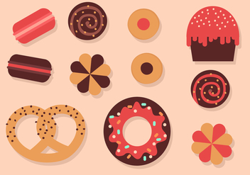 Free Bakery Elements Vector - Free vector #391435