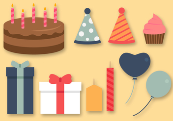 Free Birthday Elements Vector - vector #391475 gratis