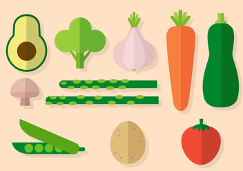Free Vegetables Vector - vector #391505 gratis