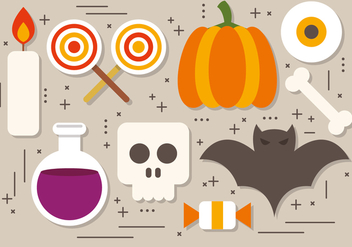 Fun Halloween Elements Vector Collection - vector #391525 gratis