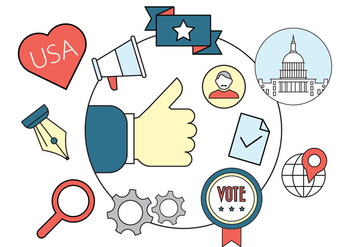 Political Vector Badges - vector gratuit #391585