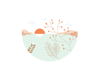 Sunset Illustration - Free vector #391685