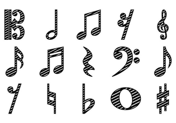 Free Musical Note Icon Vector - Kostenloses vector #391715