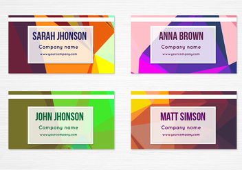 Free Vector Colorful Geometric Business Cards - vector gratuit #391745