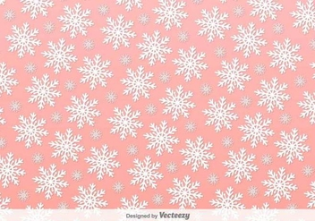 Snowflakes Pink Vector Background - бесплатный vector #391755