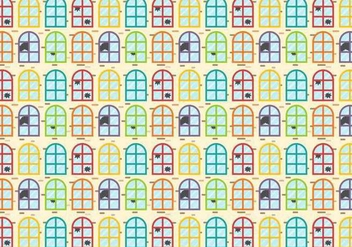 Colorful Broken Windows Vector - vector gratuit #391785