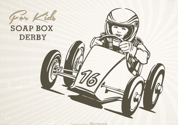 Free Retro Soap Box Vector Poster - vector gratuit #391805