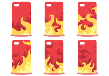 Firey Phone Case Pattern Vector Set - бесплатный vector #391865