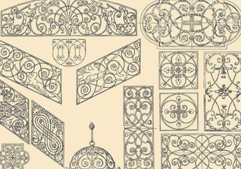 Decorative Ironwork - Free vector #391875