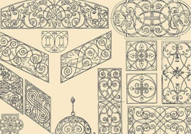 Decorative Ironwork - vector gratuit #391875