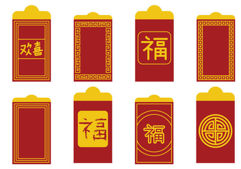 Red Packet Vector - vector gratuit #391885