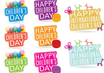 Childrens Day Titles - vector gratuit #391895