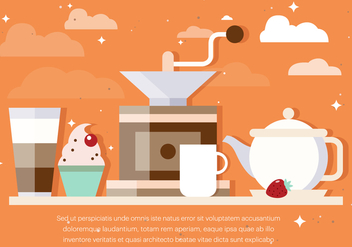 Free Coffee Background Vector - Kostenloses vector #391925