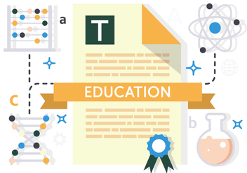 Free Flat Education Vector Illustration - бесплатный vector #391985
