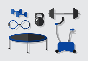 Vector Fitness Elements - Kostenloses vector #392005