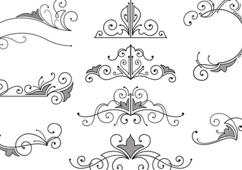 Vintage Ornaments Vectors - бесплатный vector #392085