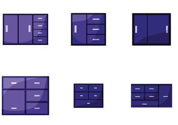 File Cabinet Vector - Free vector #392125