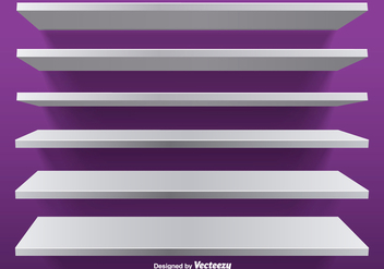 White Vector Editable Shelves - vector gratuit #392155