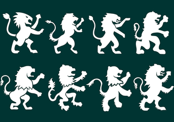 Lion Rampant Icons - vector #392165 gratis