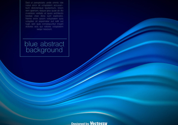 Vector Abstract Blue Waves - бесплатный vector #392175