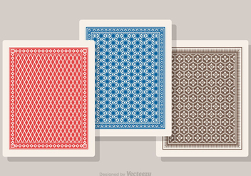 Free Playing Card Back Vector Set - Kostenloses vector #392255