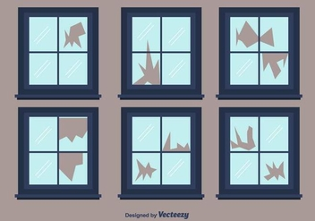Broken Window Vector - vector gratuit #392315