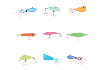 Free Fishing Lure Vector - vector #392445 gratis