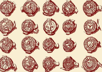 Stamp Seals - vector #392475 gratis