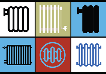 Radiator Vector Set 1 - Kostenloses vector #392515