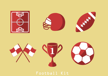 American Football Icons Vector - бесплатный vector #392565