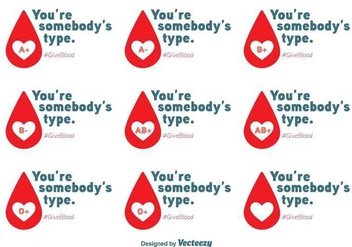 Blood Drive Vector Messages - vector gratuit #392595