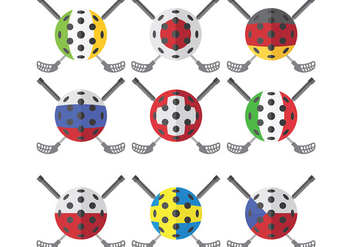 Free Floorball Icons Vector - vector gratuit #392605