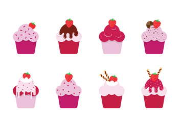 Free Strawberry Shortcakes Vectors - vector gratuit #392685