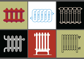 Radiator Vector Set 2 - Free vector #392775