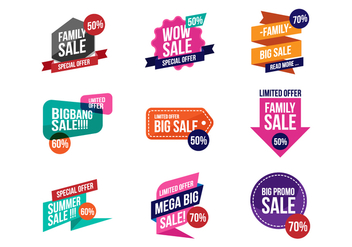 Free Sale Discount Banner Vector - Free vector #392935
