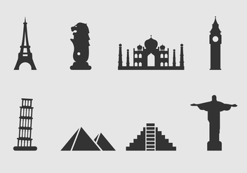 Free Landmark of The World Icon Vector - vector #392945 gratis