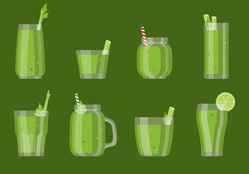 Celery Smoothie Vector - Free vector #393045