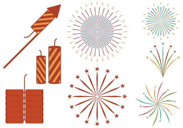 Firecracker Set - vector gratuit #393065