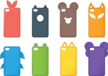 Free Phone Case Icons Vector - vector gratuit #393095