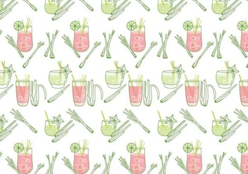 Lemongrass Pattern Vector - Free vector #393105