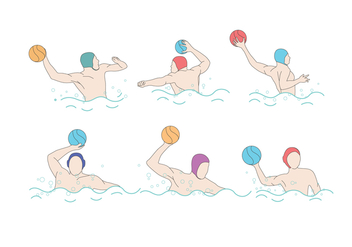 Water Polo Vector - Free vector #393115