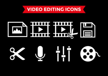 Video Editing Icons Vector - бесплатный vector #393125