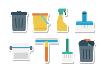 Free Keep Clean Sticker Icon Set - vector gratuit #393135