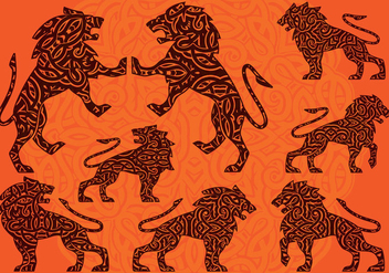 Lion Ornament - vector #393145 gratis